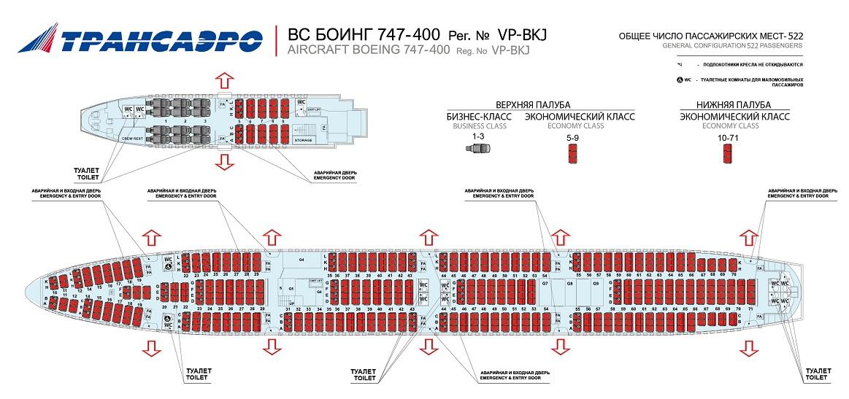 Боинг 747-400 Трансаэро