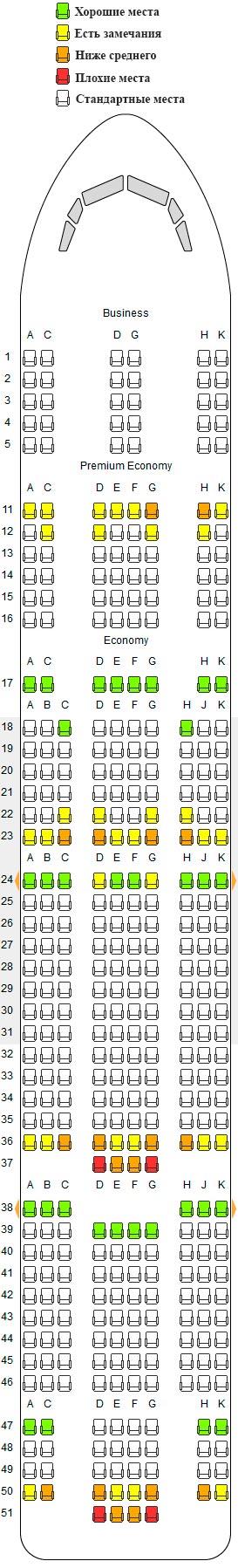 Боинг 777-300er схема салона лучшие места