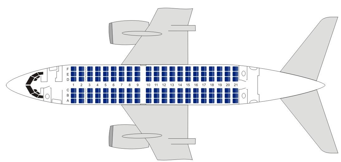 Боинг 737-500 Ютэйр - схема