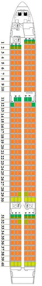 Схема расположения кресел в боинг 757-200