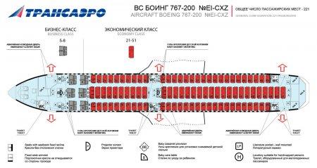 Боинг 767 200 схема салона трансаэро фото 180