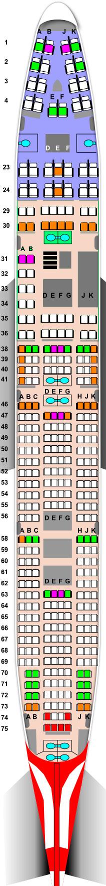 Боинг 747-400 Аэрофлот — схема салона и лучшие места