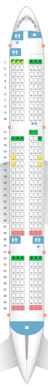 Boeing 757 схема салона.