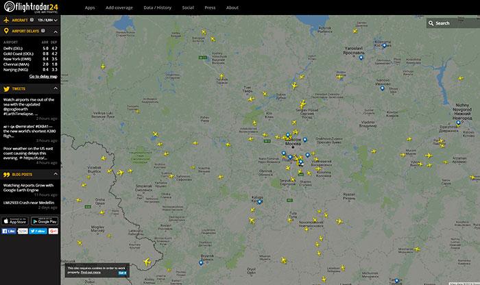 Отследить самолёт в реальном времени по номеру рейса