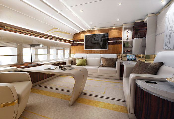 Boeing 747 VIP изнутри