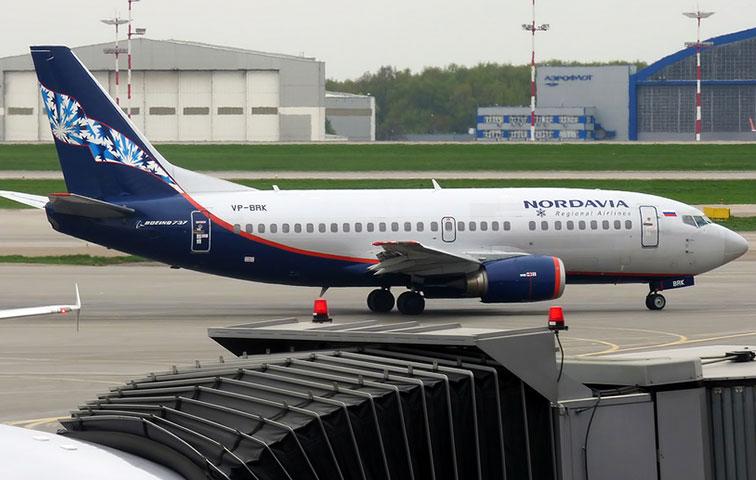 Боинг 737-500 авиакомпании Нордавиа