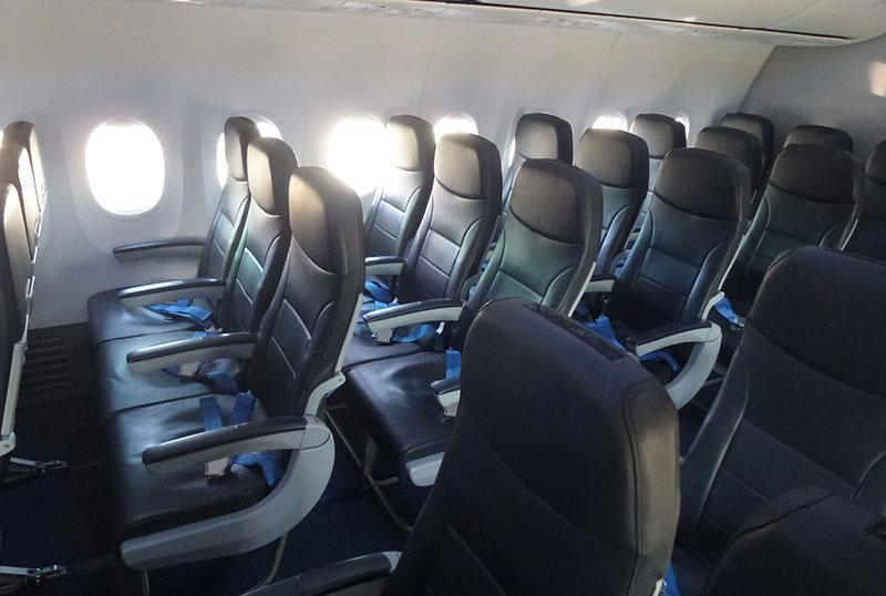 Как выглядит салон самолета авиаперевозчика Pobeda