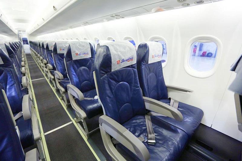 Салон самолета Yakutia Airlines