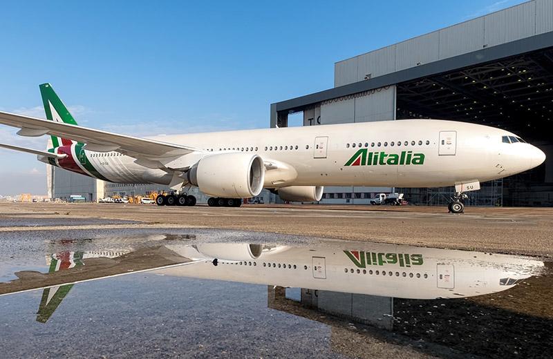 Самолет авиакомпании Алиталия