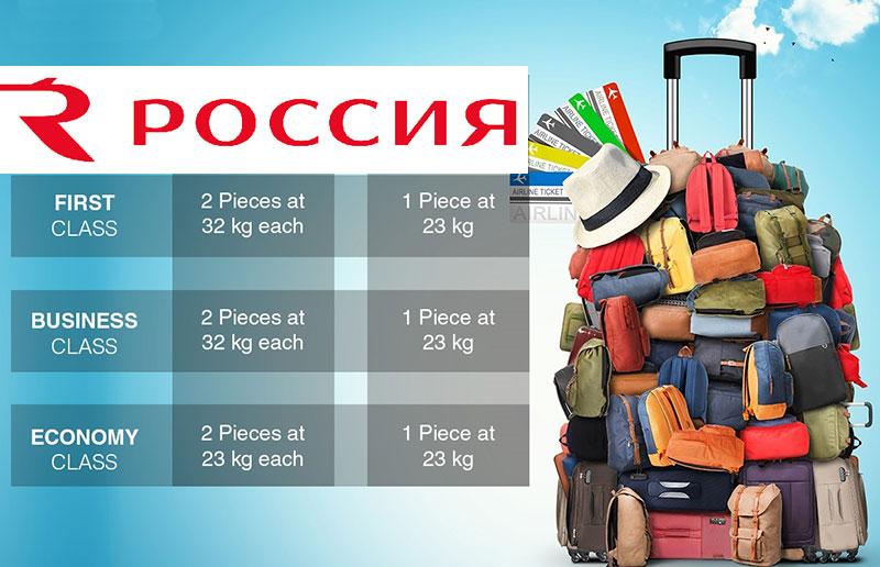 Нормы провоза багажа и ручной клади в авиакомпании Россия 2020