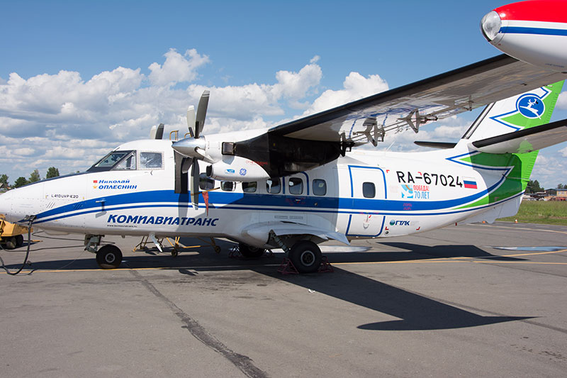 Самолет L-410 авиакомпании Комиавиатранс