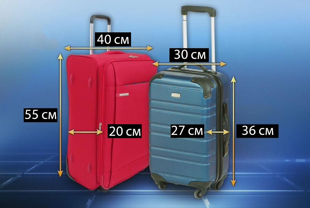 Ручная кладь в самолет: размеры и вес 2018