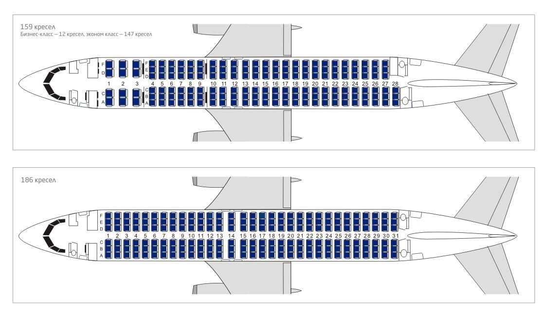 Boeing 737 800 схема мест